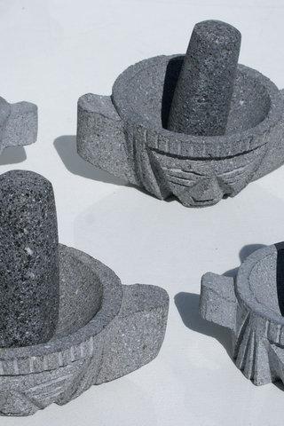 Stein mørtel og pestel fra ecuador, etnisk håndverk, hjem ...